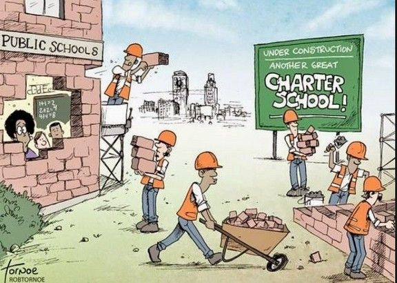 Image result for charter schools take money away from public schools