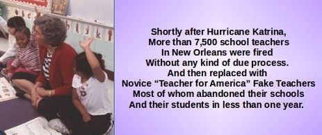 Image result for Research shows that half of the 4,300 New Orleans teachers fired after Hurricane Katrina never taught in Louisiana again